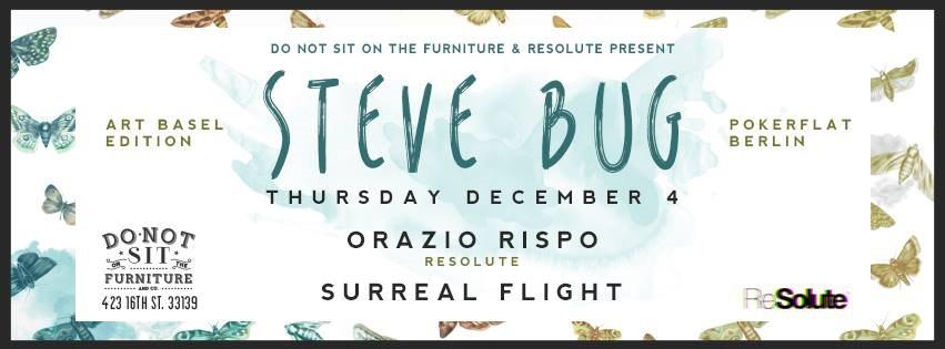 Steve Bug (Art Basel Edition) - Flyer front