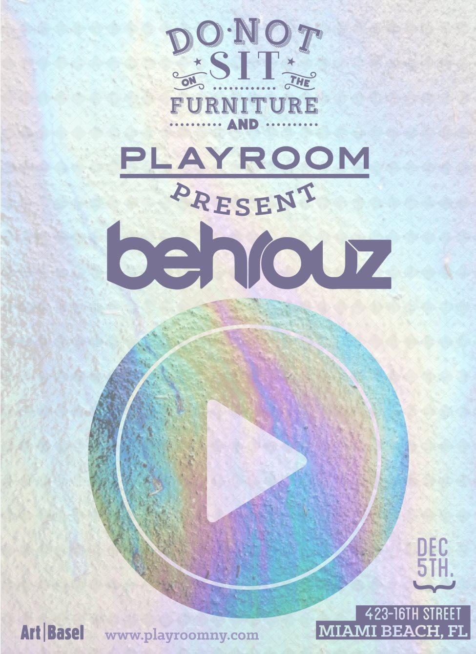 Behrouz (Art Basel Edition) - Flyer front