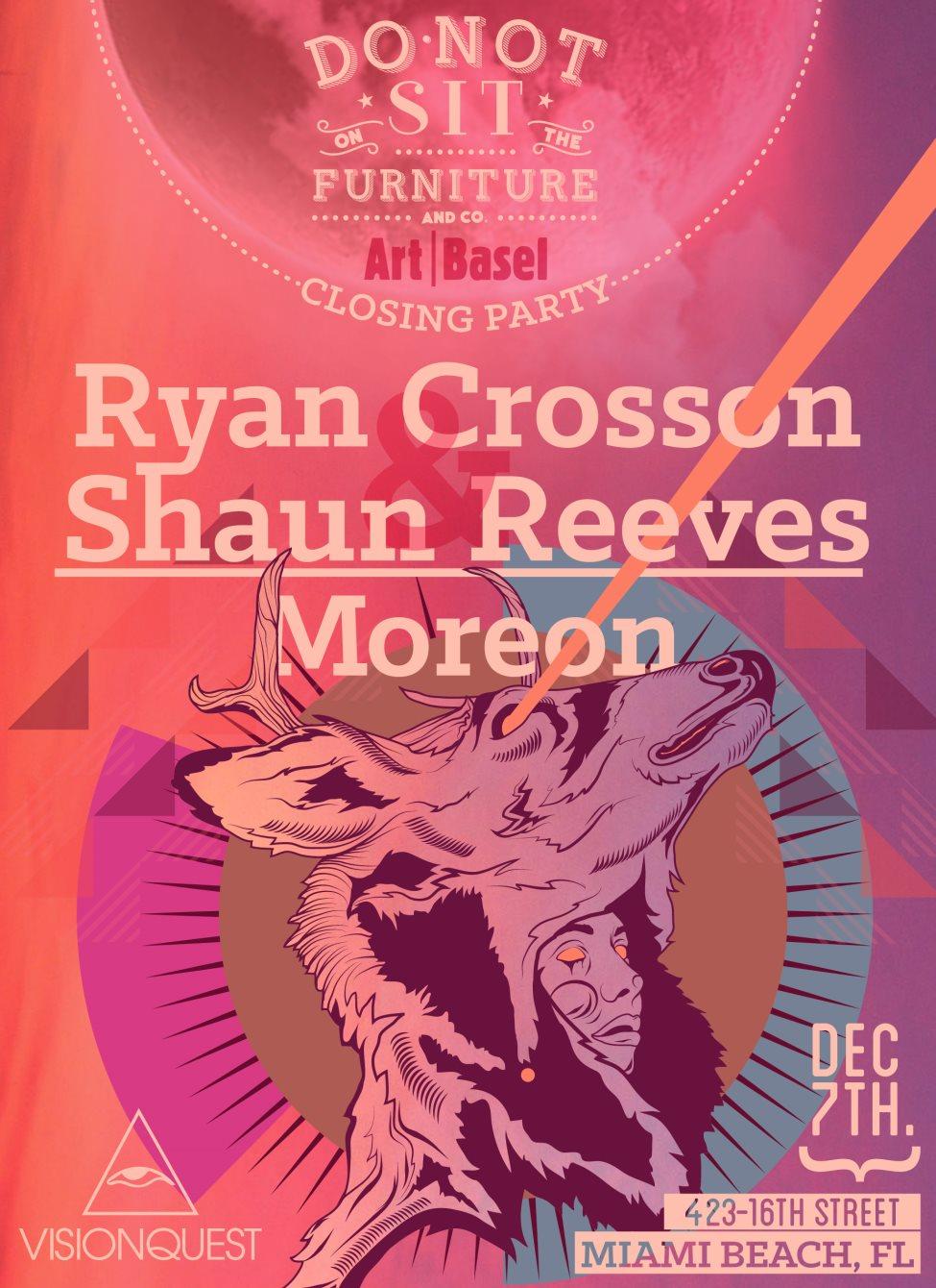 Ryan Crosson & Shaun Reeves: Art Basel Edition - Flyer front