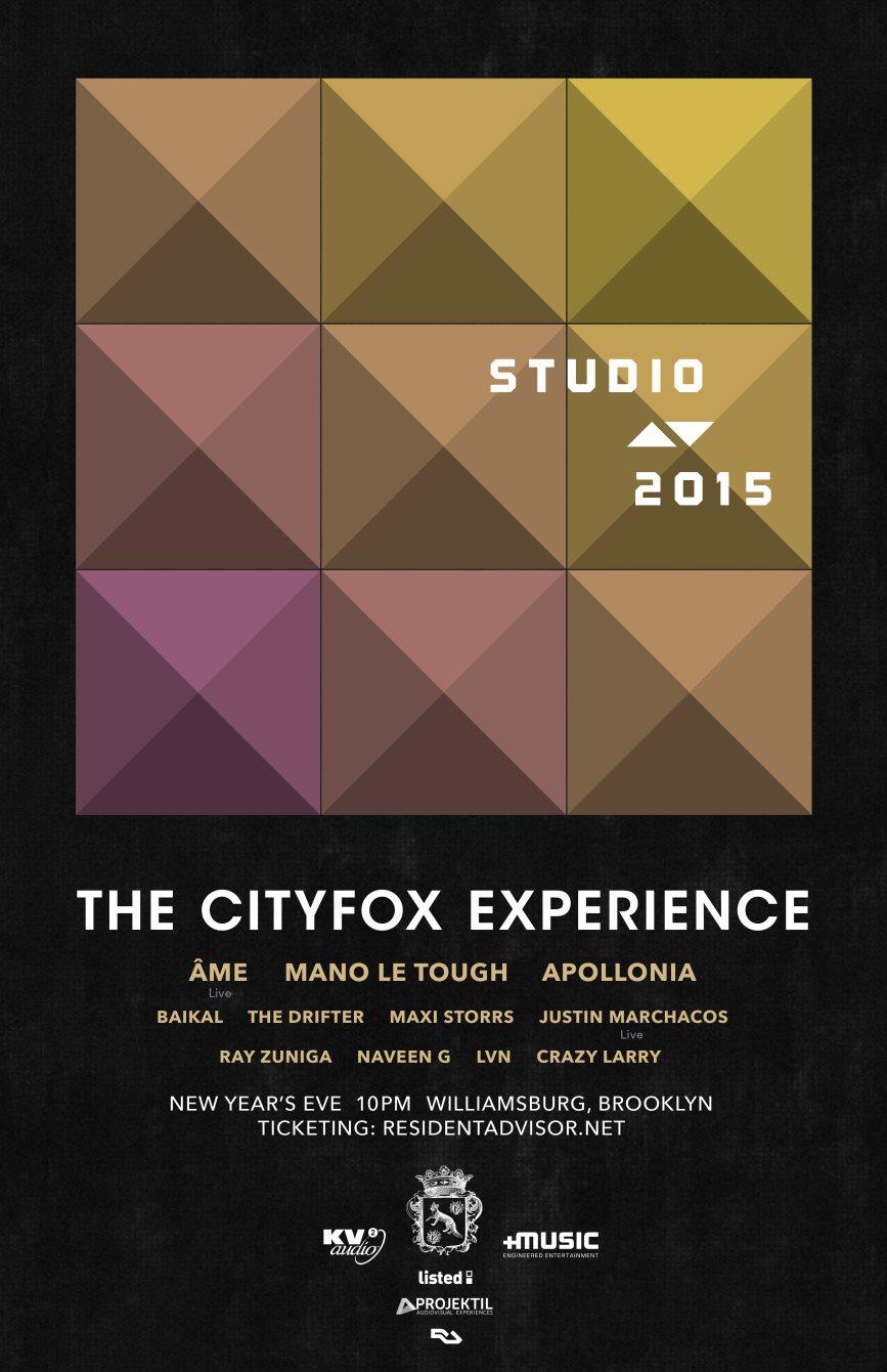 The Cityfox Experience: Studio AV 2015 with Ame, Mano Le Tough, Apollonia, Baikal and More - Flyer back