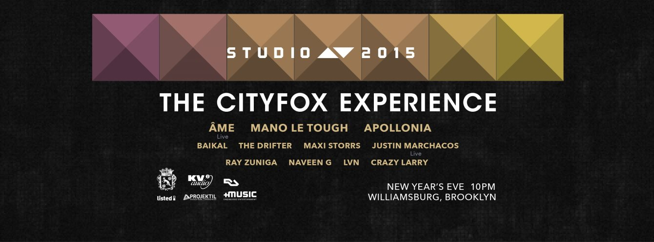 The Cityfox Experience: Studio AV 2015 with Ame, Mano Le Tough, Apollonia, Baikal and More - Flyer front