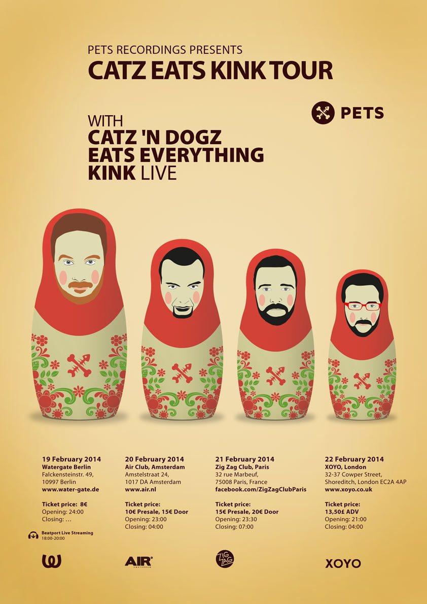 Eats Everything + Catz 'N Dogz + Kink - Flyer back