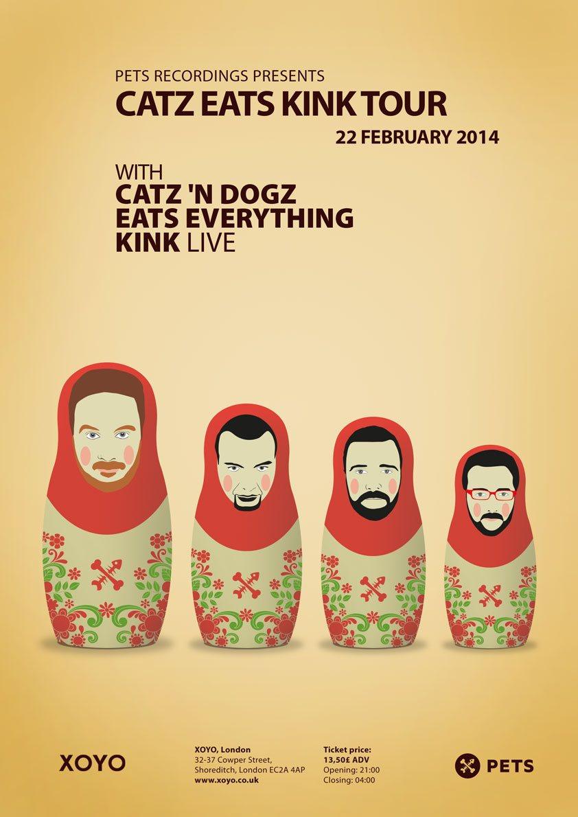Eats Everything + Catz 'N Dogz + Kink - Flyer front