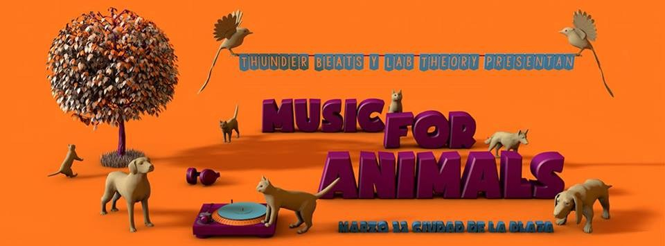 Music For Animals - Flyer front