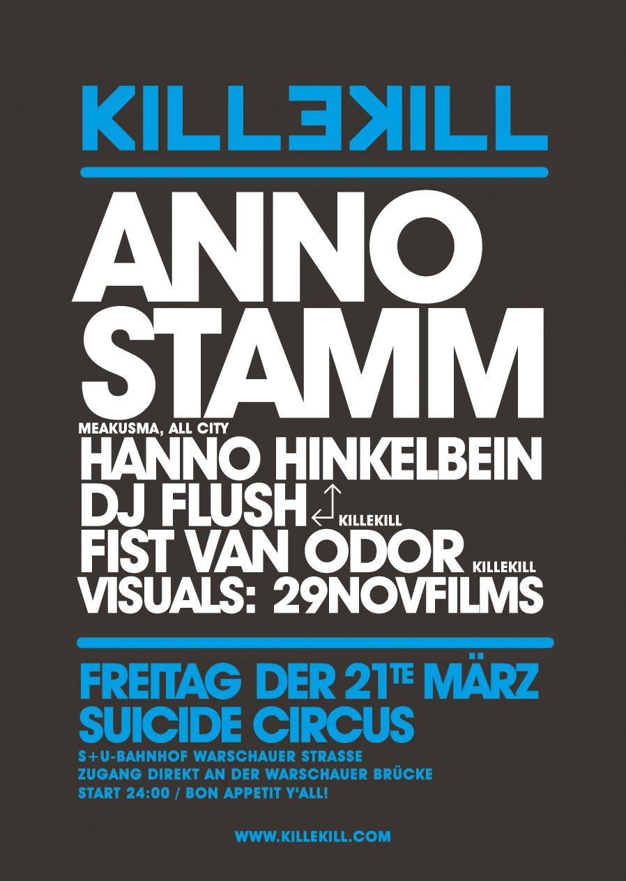 Killekill Night Feat. Anno Stamm - Flyer back