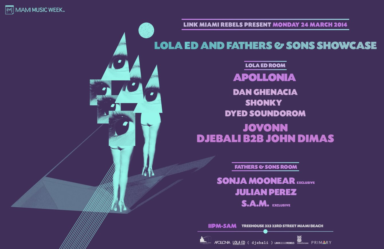 Lola ED vs. Fathers & Sons Showcase - Flyer front