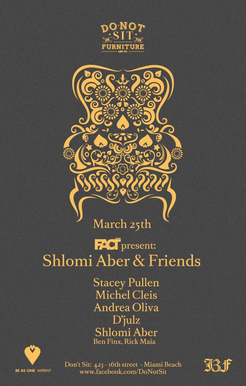 Shlomi Aber & Friends WMC 2014 - Flyer front
