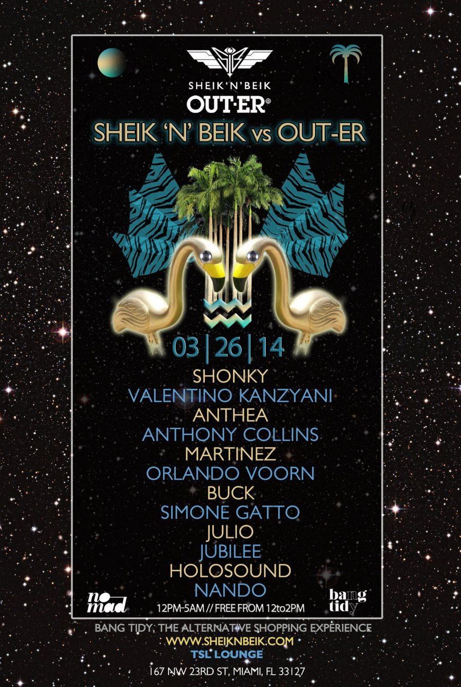 Day & Night Shonky, Valentino Kanzyani, Anthea, Anthony Collins, Martinez, and More - Flyer front