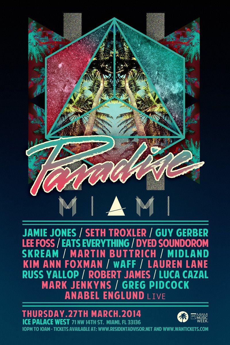 Jamie Jones presents Paradise Miami - Flyer front