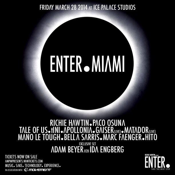 Richie Hawtin presents Enter.Miami - Flyer front