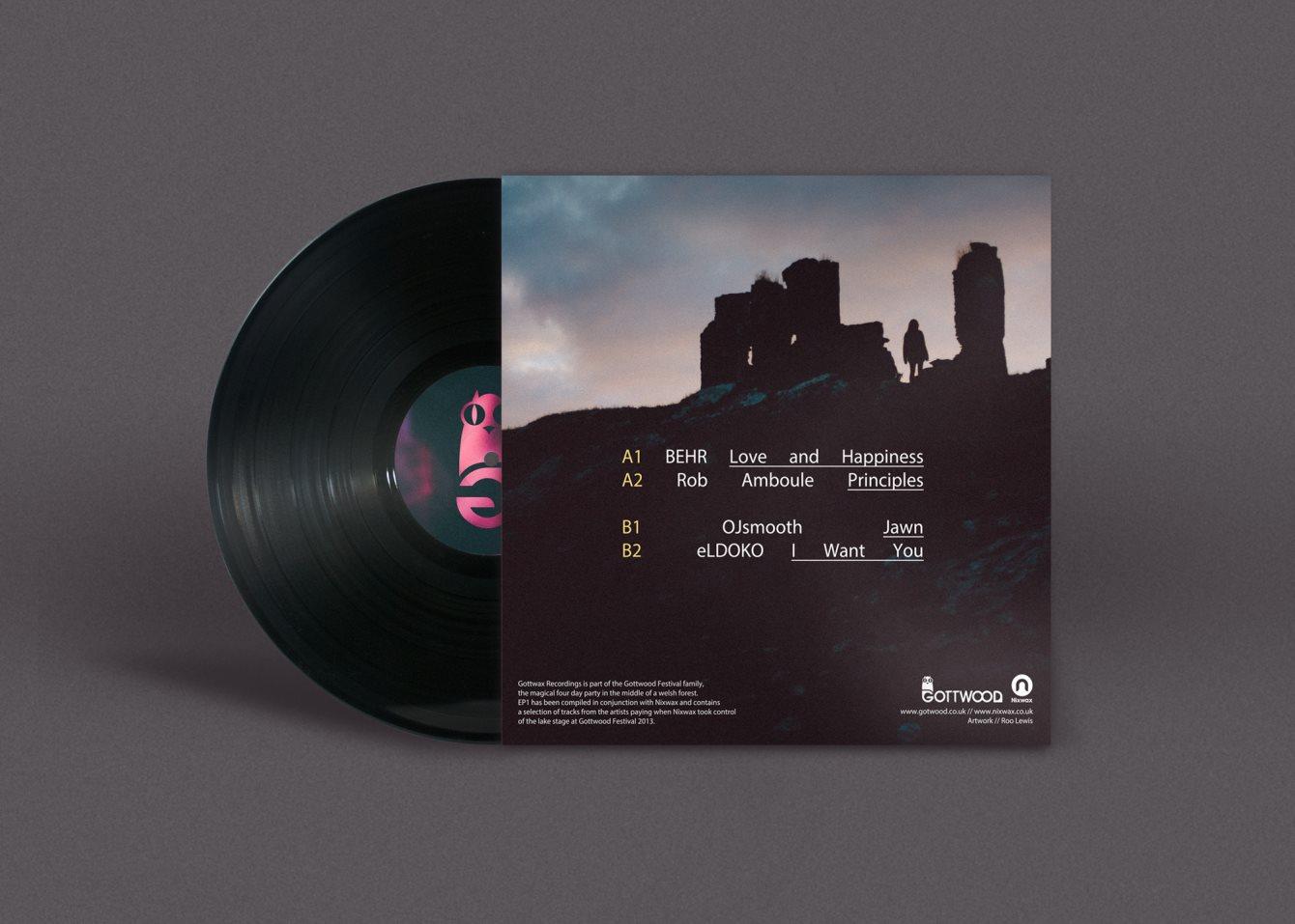 Gottwood presents: The Gottwax Label Launch Feat. Kris Wadsworth, Appleblim, Nicholas (Live) - Flyer back