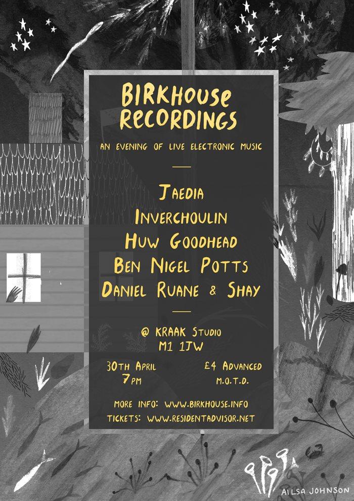 Birkhouse Recordings - Live Label Showcase - Flyer front