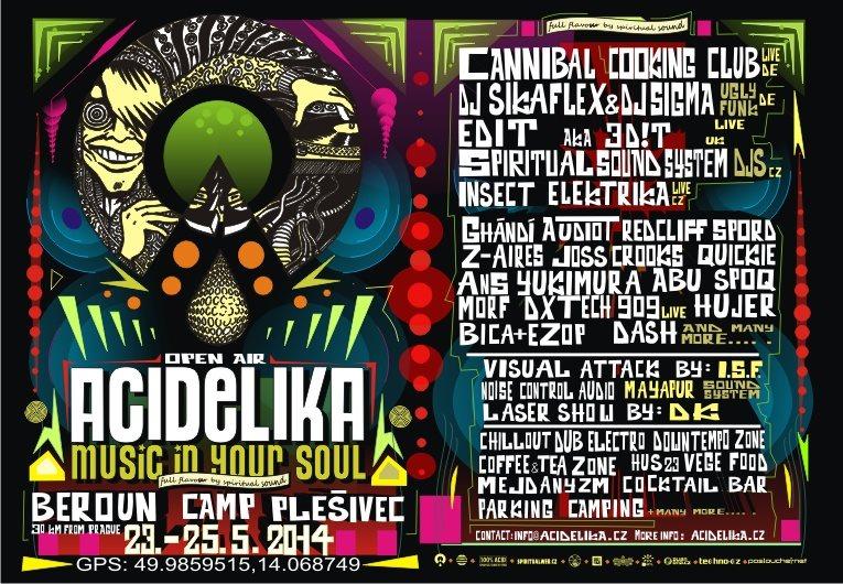 Acidelika Open AIR 2014 - Flyer front