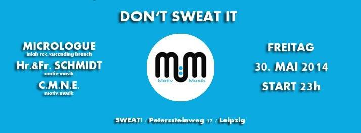 Don'sweat it! - Flyer front