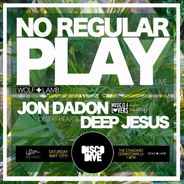 Disco Dive Feat. No Regular Play, Jon Dadon & Deep Jesus - Flyer front