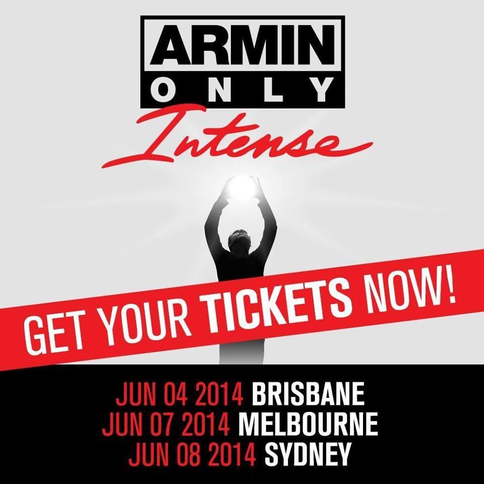 Armin Only, Intense World Tour Australia - Flyer front