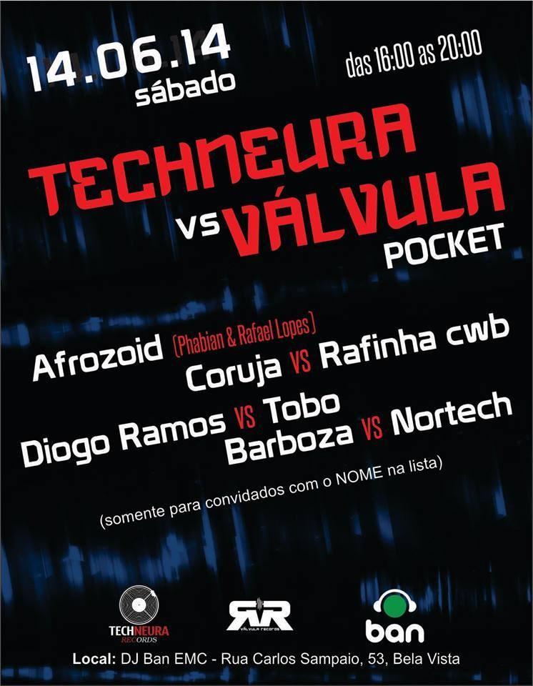 Techneura vs. Valvula Pocket - Flyer front