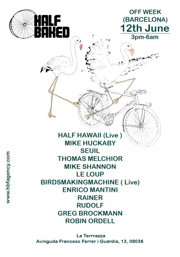 Half Baked Showcase (London) - Open Air Party - Flyer front