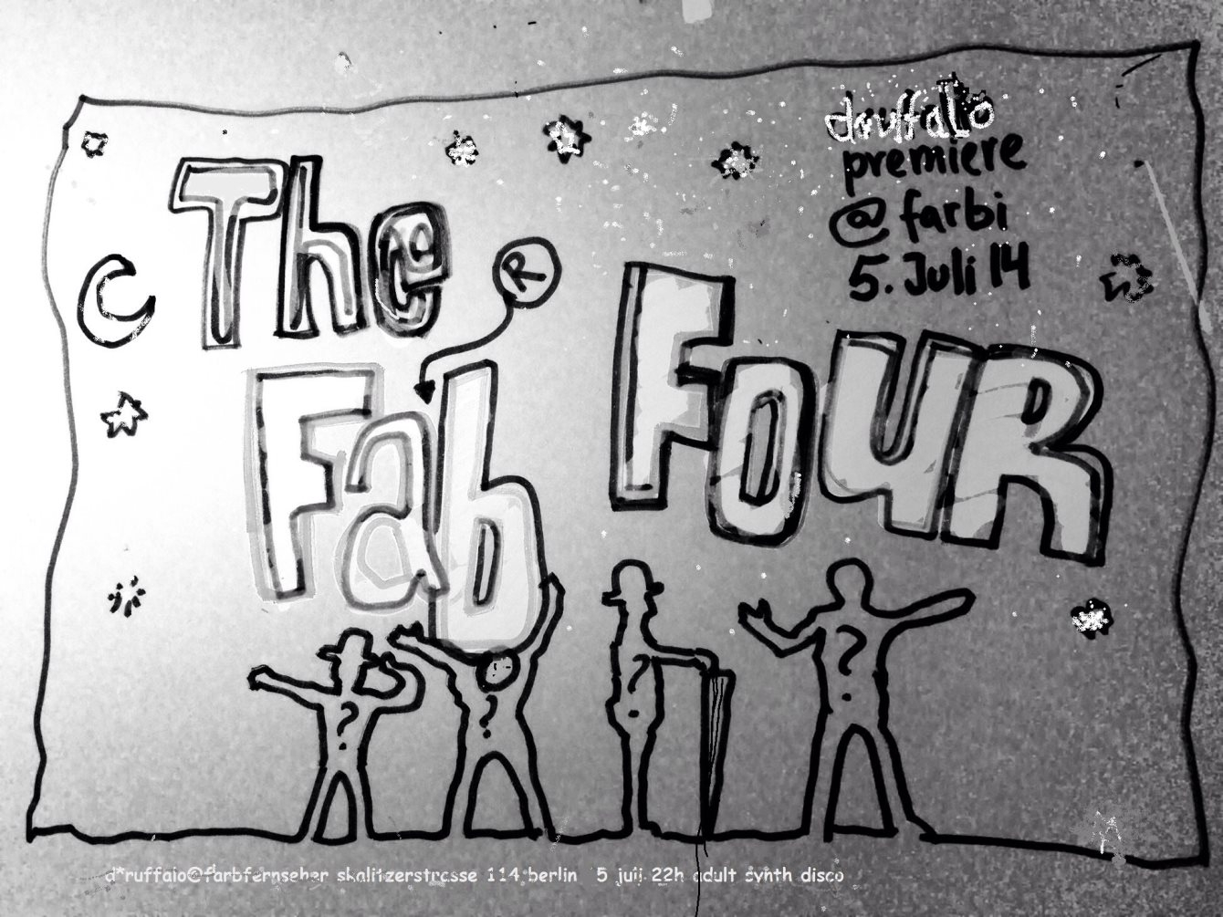 Druffalo Hit Squad presents The Farb Four - Flyer front
