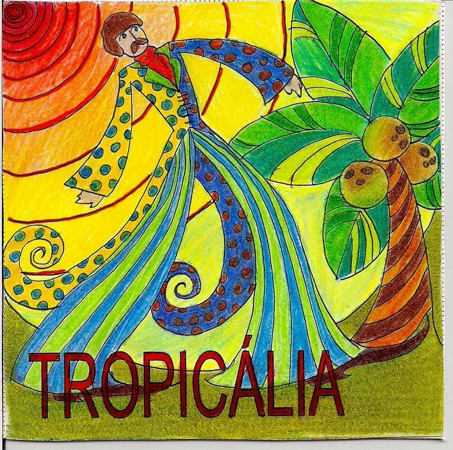 Tropicalia with Glowing Palms and Michal Zietara - Flyer front