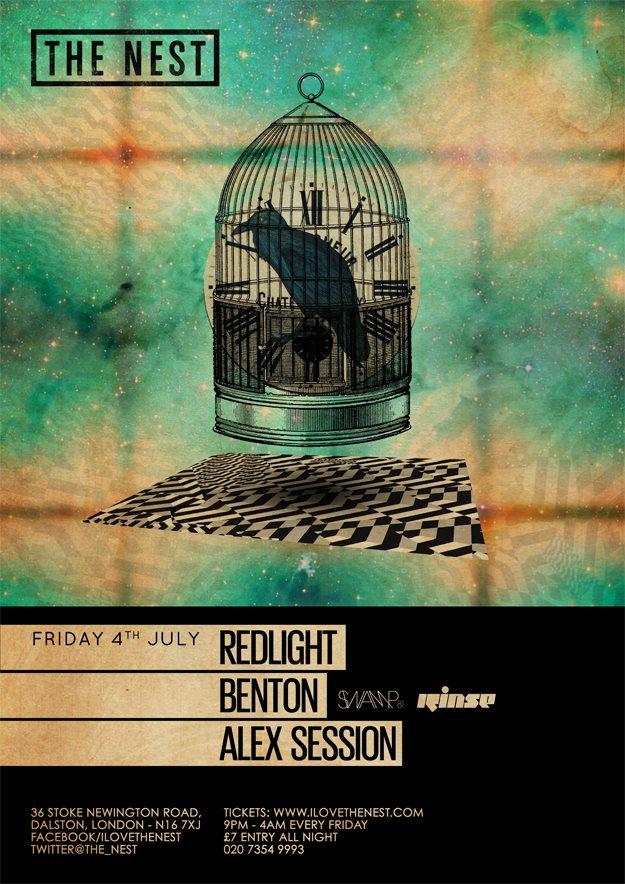 Redlight + Benton + Alex Session - Flyer front