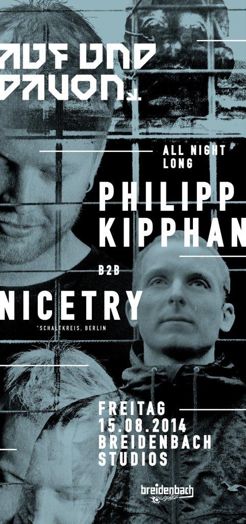 Auf & Davon mit Nicetry & Philipp Kipphan - Flyer front