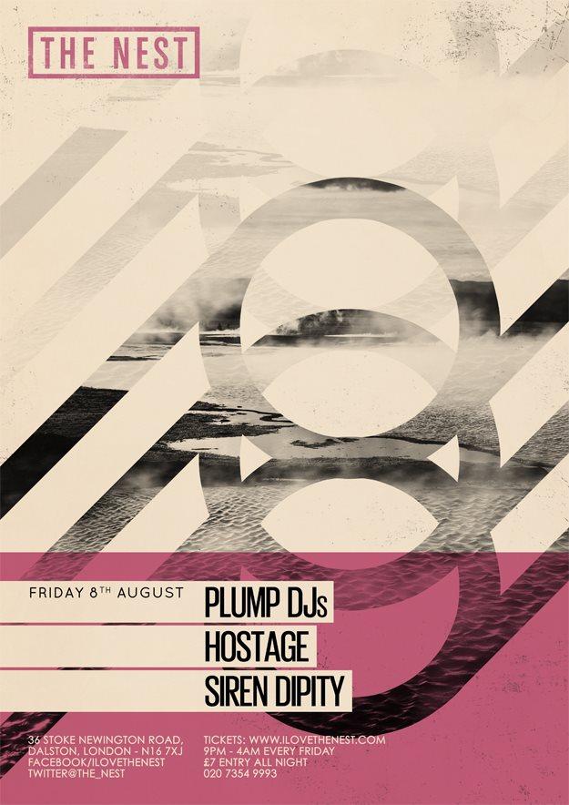 Plump DJs + Hostage + Siren Dipity DJs - Flyer front