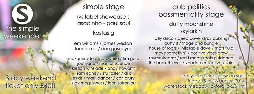 The Simple Weekender 2014 - Flyer front