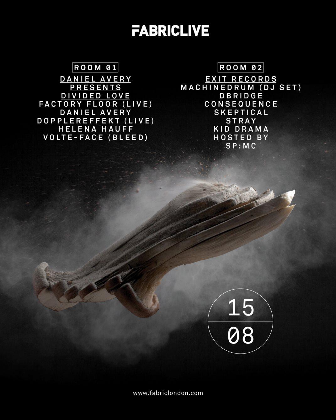 Fabriclive: Factory Floor Live, Dopplereffekt Live & Exit Records - Flyer front