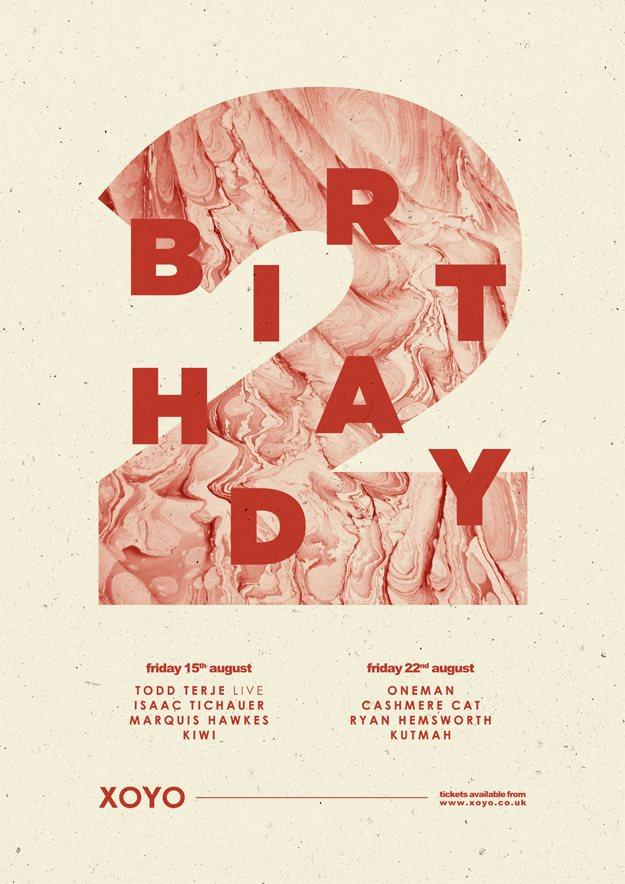 Xoyo 2nd Birthday with Oneman, Cashmere Cat, Ryan Hemsworth & Kutmah - Flyer front