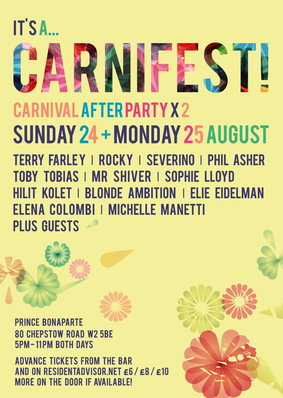 It's A... Carnifest! Notting Hill Carnival After Party - Part 1 - Flyer front