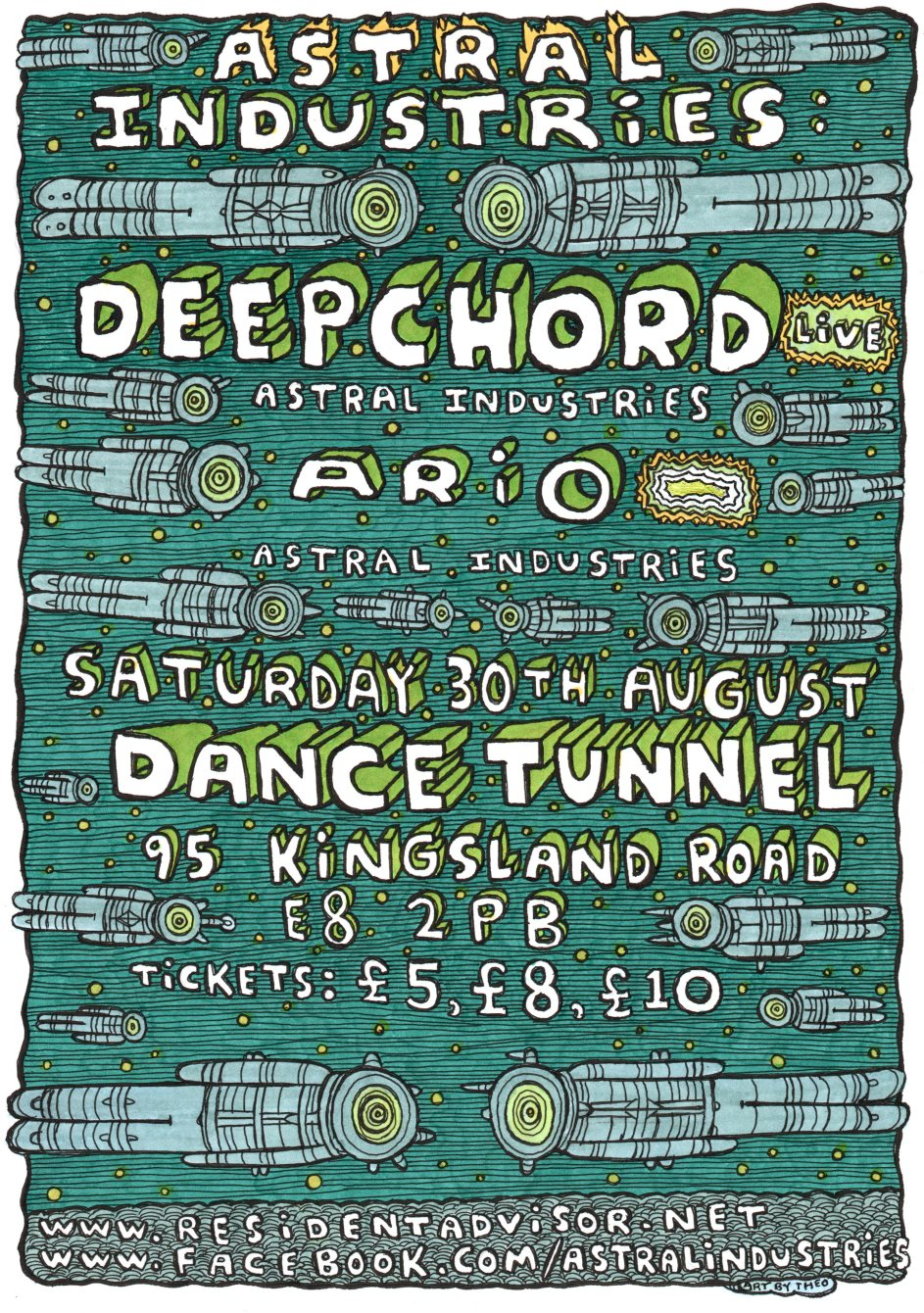 Astral Industries with Deepchord - Flyer front