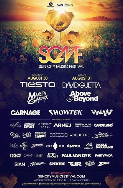 Sun City Music Festival 2014 Day 1 - Flyer front
