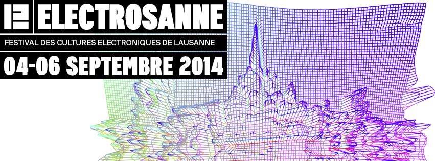 Electrosanne Festival 2014 - Flyer front