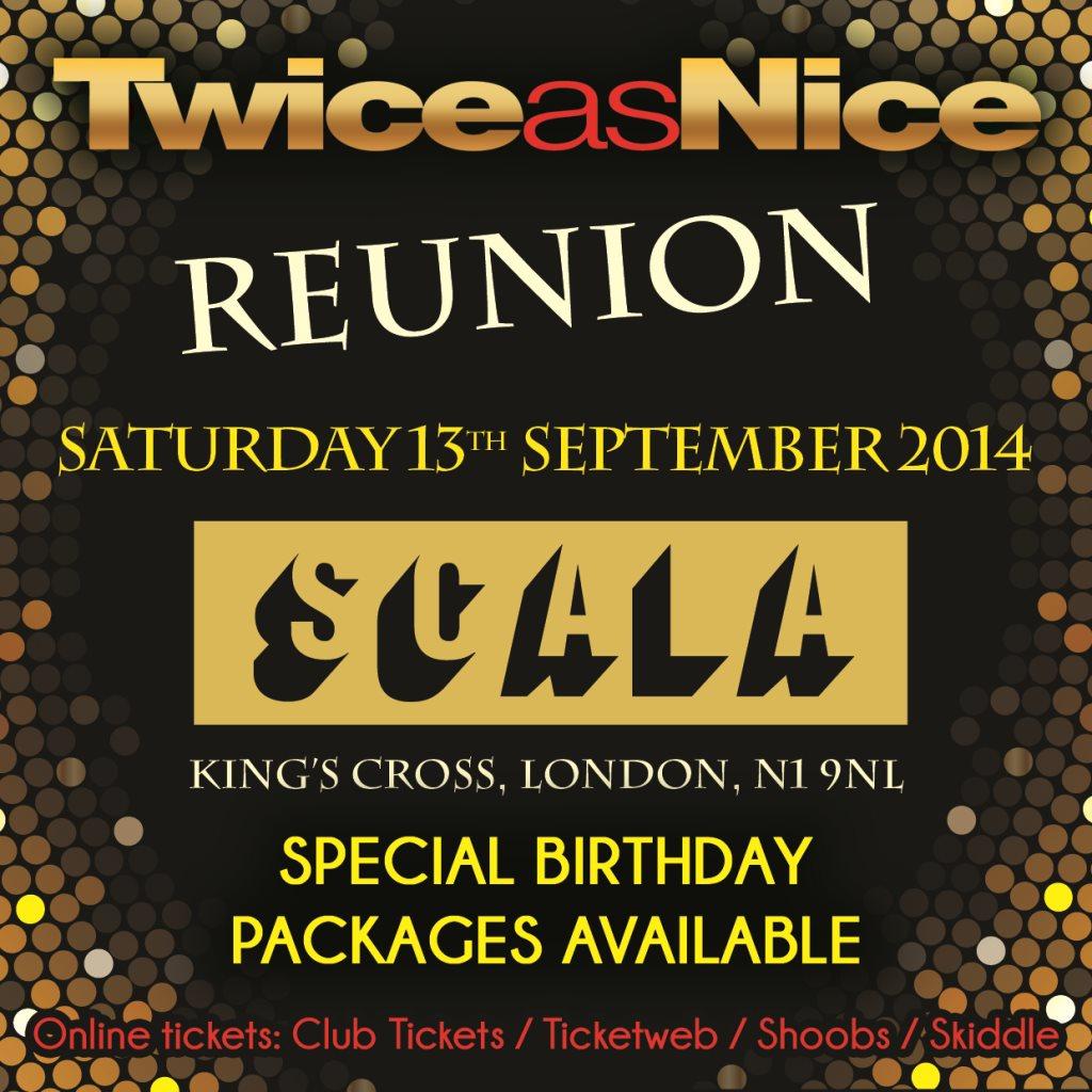 Twiceasnice Reunion - Flyer front