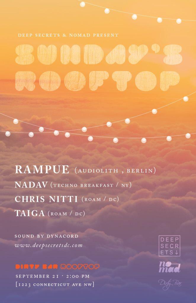 Last Sunday Rooftop Feat. Rampue, Nadav, Chris Nitti - Flyer front