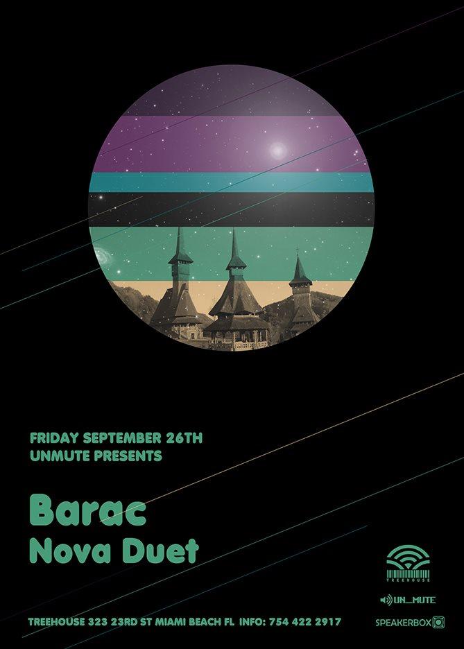 Un_mute presents Barac - Flyer front