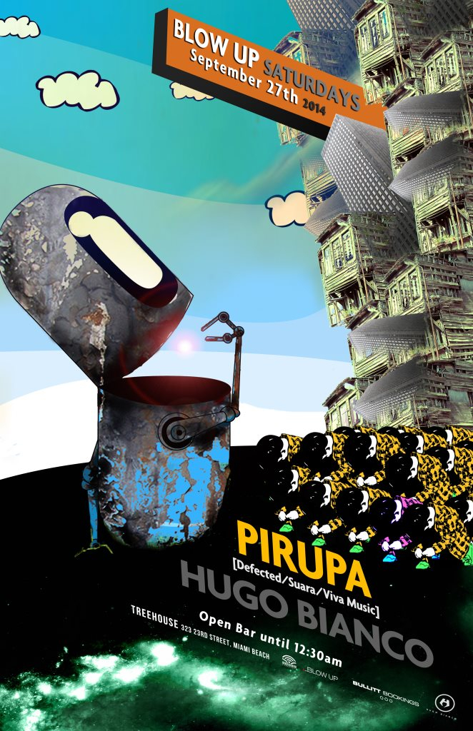 Pirupa presented by Blow Up Saturdays - Flyer front