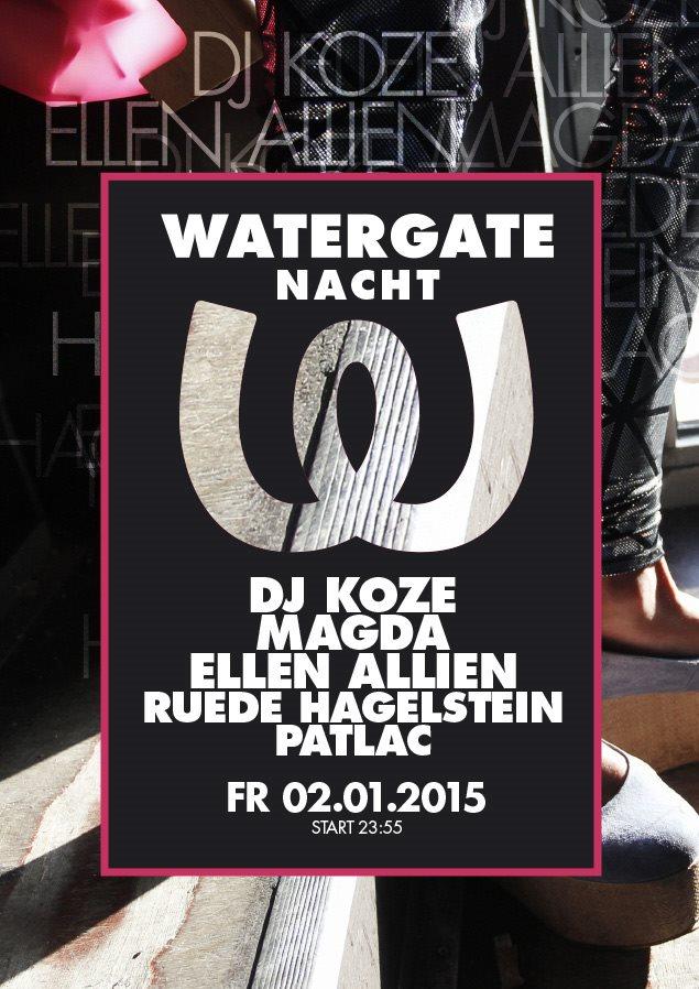 Watergate Nacht - Flyer front