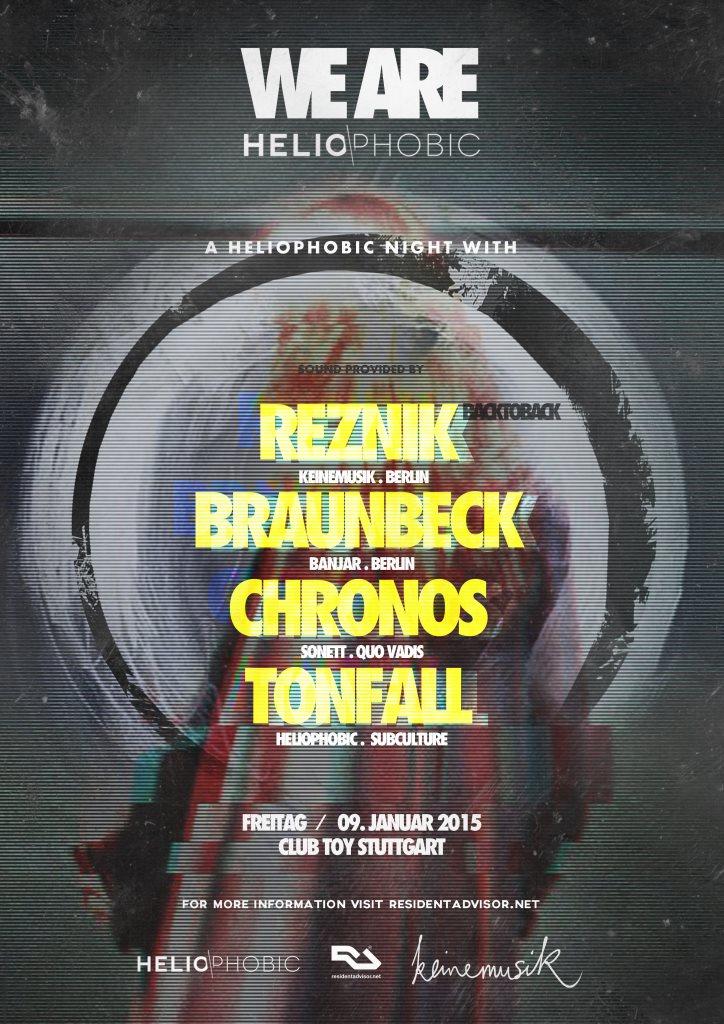 Heliophobic #7 - Reznik / Braunbeck / Chronos / Tonfall - Flyer front
