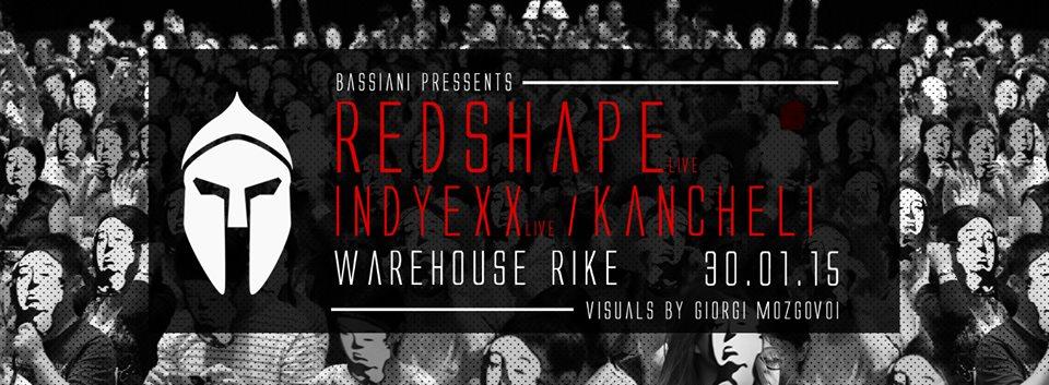 Bassiani: Redshape - Flyer front