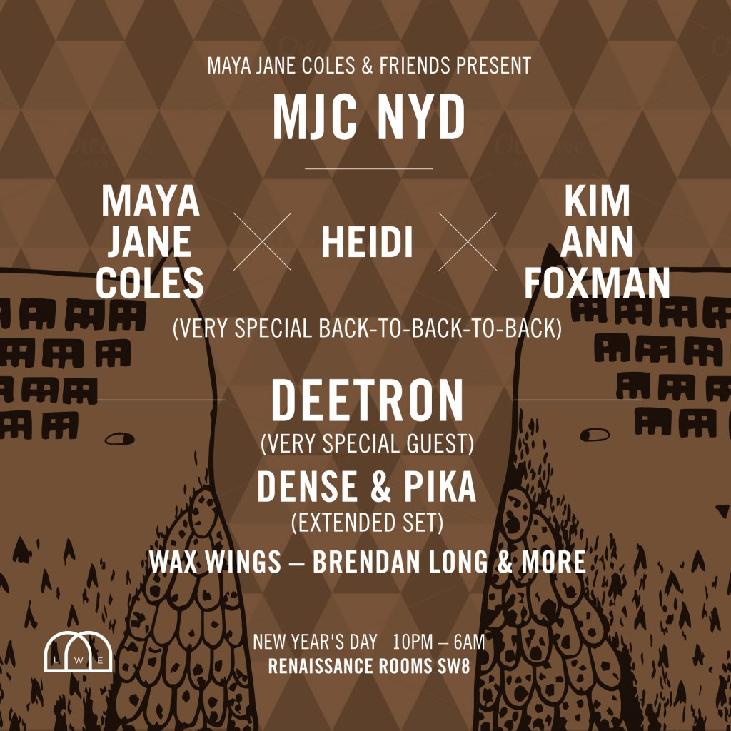 Maya Jane Coles & Friends present: MJC NYD - Flyer front