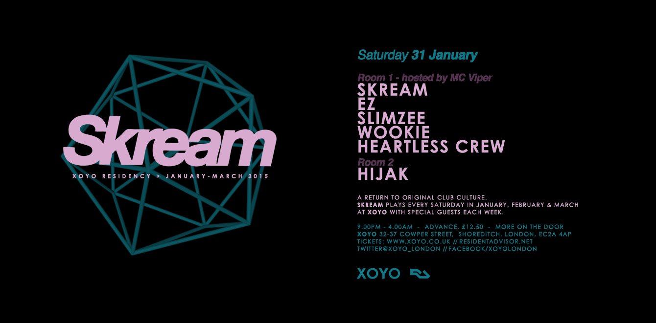 Skream + DJ EZ + Slimzee + Wookie + DJ Fonti & Mighty Moe (Heartless Crew) - Flyer front