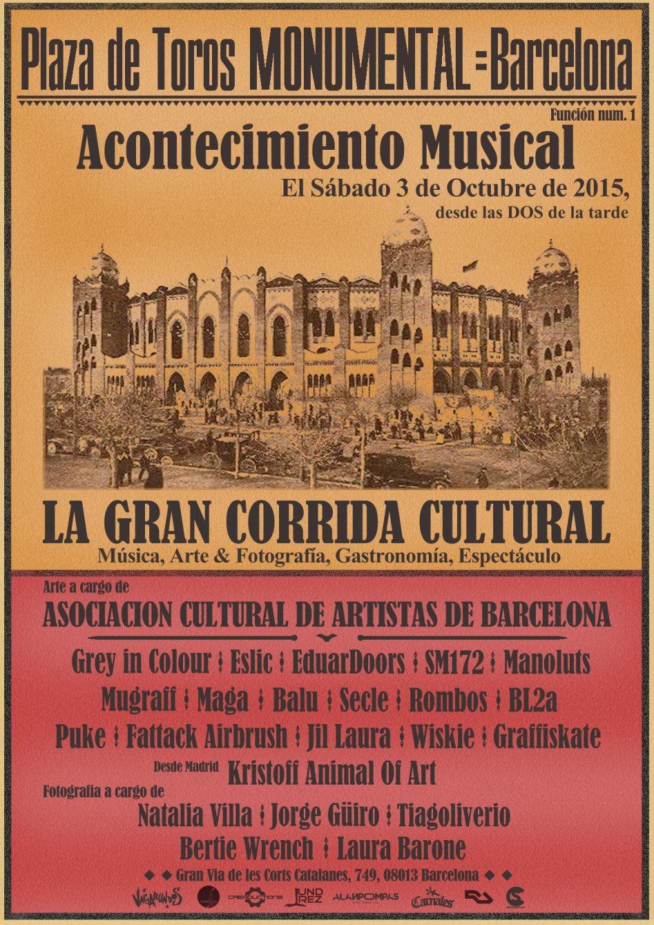La Gran Corrida Cultural' Feat. Luciano, Audiofly, Cabo San Roque, Dario Rossi, Rossko - Flyer back