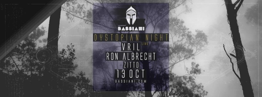 Bassiani: Dystopian Night with Vril Live & Ron Albrecht - Flyer front