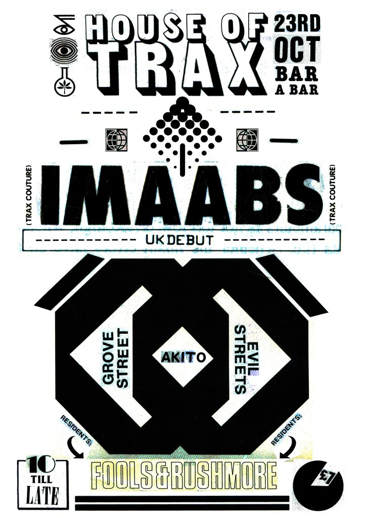 House OF Trax W/ Imaabs - Flyer front