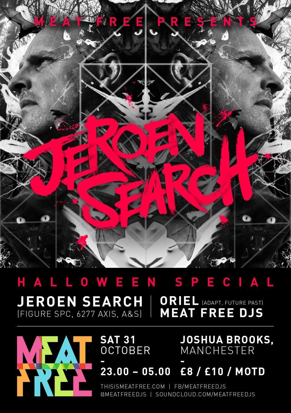 Meat Free presents Jeroen Search - Flyer front