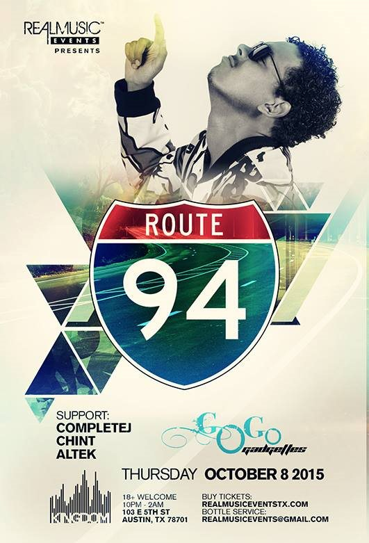 Realmusic Events presents Route 94 - Flyer front