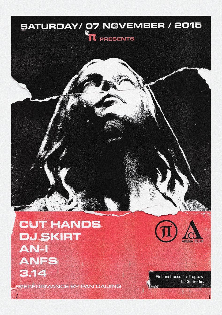 Π11 with Cut Hands, Dj Skirt, An-I, Anfs, Pan Daijing & 3.14 - Flyer front