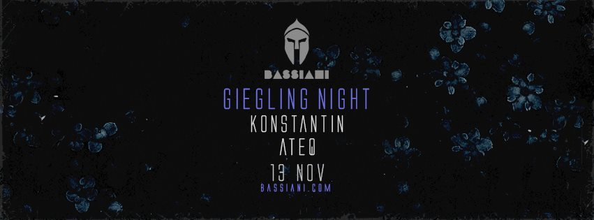Bassiani: Giegling Showcase with Konstantin & Ateq - Flyer front